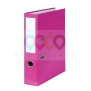 Emelőkaros iratrendező, rózsaszín, gerincszélesség 80 mm