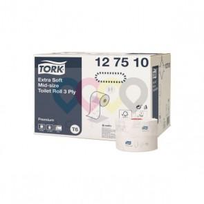 Tork Premium - toalettpapír, kompakt tekers - Extra Soft