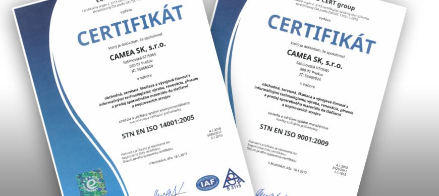ISO tanúsítványokat